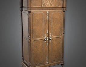 Big Wooden Cabinet Antiques - PBR Game Ready 3D model