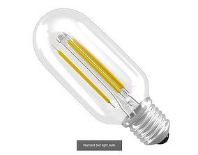 3D model Filament Led Light Bulbs