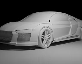 Audi R8 V10 in Blender 3D