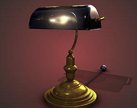 3D asset Bankers Lamp