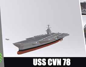 3D model game-ready USS CVN 78 GERALD FORD