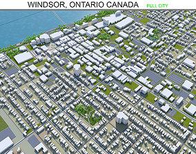 Windsor Ontario Canada 30km 3D asset