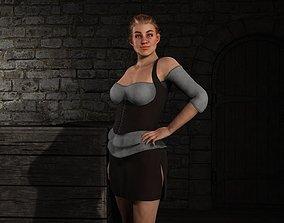 Fantasy Tavern Wench 02 - Fantasy Clothing 3D asset