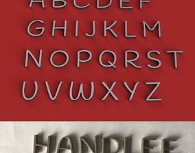 HANDLEE uppercase and lowercase 3D Letters STL FILE