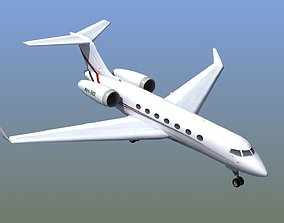 3D model low-poly G550 Executive Jet