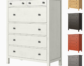 3D IKEA HEMNES 6-drawer chest