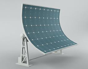 3D model Solar panel 02 rotative