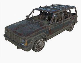 3D Abandoned jeep x01