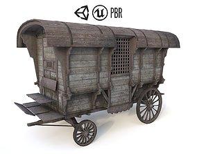 Old Prison Trolley 3D asset