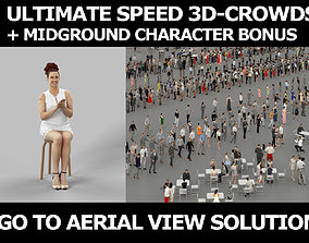 3d crowds and foreground Yearn elegant audience sitting