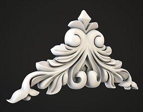 Carved corner 3D model