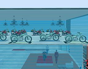 motorcycle bike showroom 3D printable model