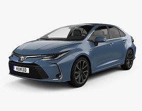 3D model Toyota Corolla Hybrid sedan 2019