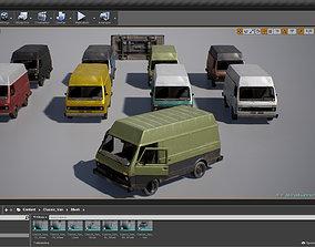 Van vehicle Pack for UE4 3D asset