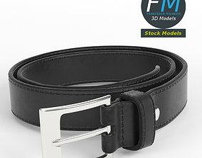 3D model PBR Belt black leather
