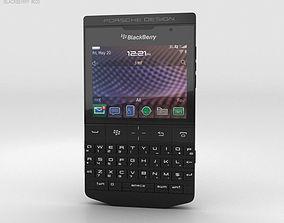 3D BlackBerry Porsche Design P-9981 Black