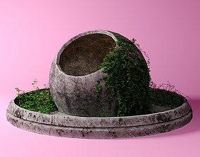 Stone collapse 3D asset
