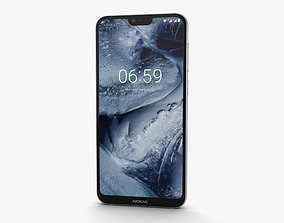 Nokia 6-1 Plus White 3D