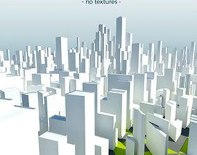 Low Poly Mega City 3D asset