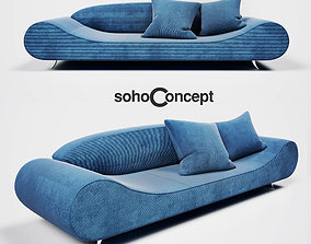 Harmony Sofa 3D model soho