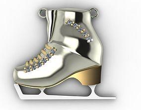 3D printable model skate ice shoes pendant