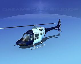 3D Bell 206 Police
