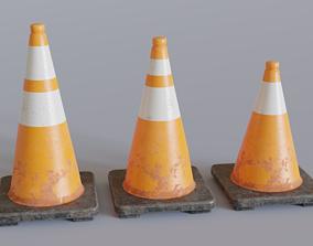 Traffic Cones 3D model VR / AR ready