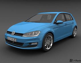 Volkswagen Golf 5 doors 2013 3D model