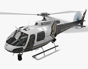 AS-350 San Diego Police Animated 3D asset