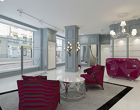 3D model boutique interior 3