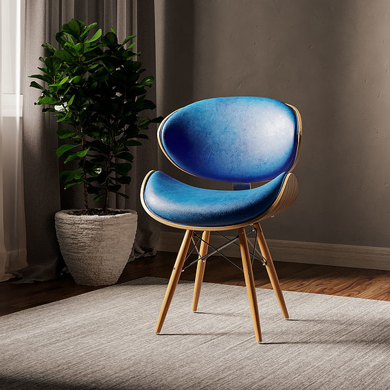 70% Discount Corvus Madonna Mid-century Teal Accent Chair