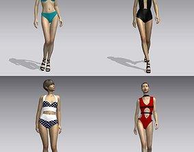 3D asset Woman swimsuits