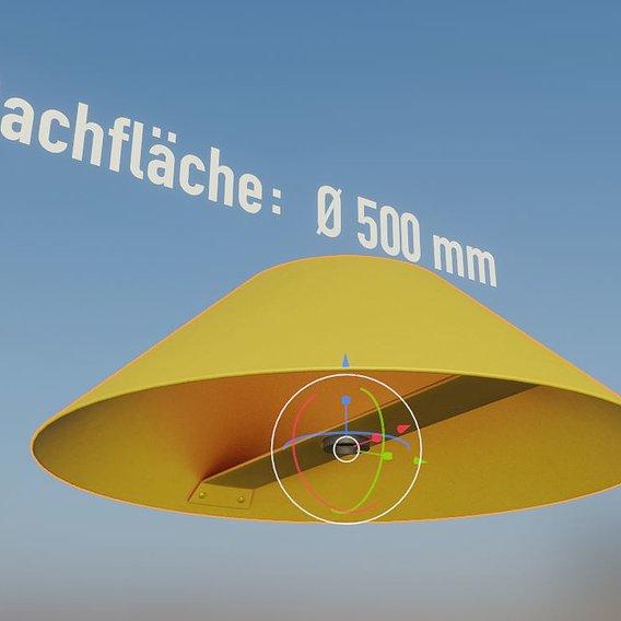 Flight Marker Hood 500mm  (Blender-2.92 Eevee)