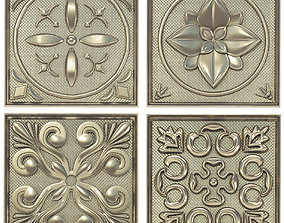 Decorative panels - Set 2 3D model