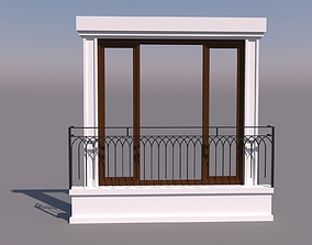 house 3D french window