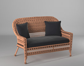 3D model albert loveseat with cushion
