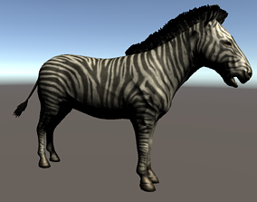 3D asset animated realtime Zebra