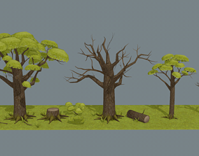 Stylazed Tree 3D asset