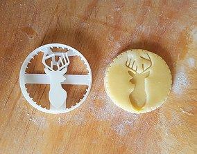 3D print model Deer Cookie Cutter