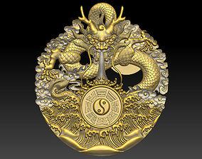 Dragon and Tai Chi 3D printable model