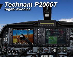 Tecnam P2006T Virtual Digital Cockpit 3D asset