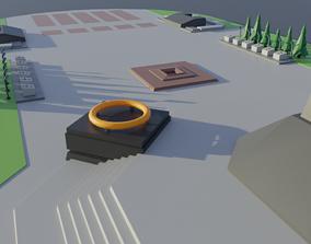 Victory Square Belarus Minsk 3D model