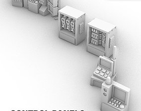Control Panels and Consoles Pack 3D print model
