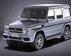 3D model Mercedes G63 AMG 2015 VRAY
