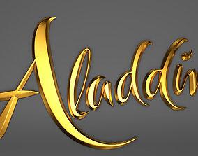 Aladdin typography modeling 3D