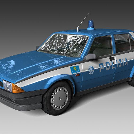 Alfa Romeo 75 Police 80's
