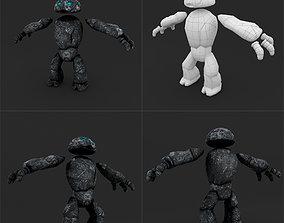 3D asset Stone Golem LowPoly Rigged Animation
