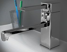 Faucet Water tap with imperfections 3D model