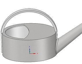 handle mini watering can for flowers and oil v01 3d-print