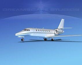 3D Cessna C680 Citation Soveriegn V12
